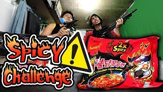 Download SPICY NOODLE CHALLENGE (NO DRINKING) + Firing Squad PUNISHMENT! - GLOCO & Trinhil Video