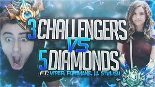Download Yassuo | 3 CHALLENGERS VS 5 DIAMOND PLAYERS! Ft. Viper, LL Stylish and Pokimane Video
