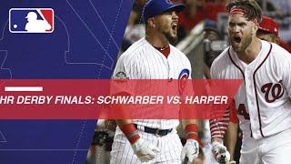 Download Schwarber faces off against Harper in HR Derby Finals Video