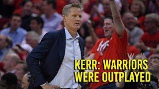 Download NBA Playoffs: Kerr says Warriors got their butts kicked Video