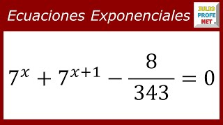 Download ECUACIONES EXPONENCIALES - Ejercicio 12 Video