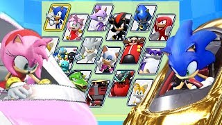 Download Team Sonic Racing All Characters Unlocked and Sonic Legendary Golden Kart Video