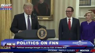 Download WATCH: Donald Trump Speaks Before Steven Mnuchin is Sworn in As Secretary of Treasury (FNN) Video