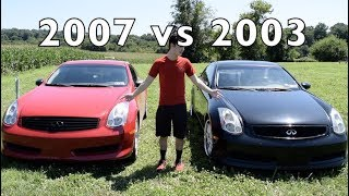 Download 2003 vs. 2007 Infiniti G35 Coupe - Differences and Comparison! Video