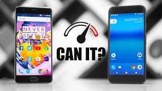 Download OnePlus 3T vs Google Pixel XL Speedtest Comparison Video