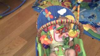 Download Baby rocking herself - rocking chair Video