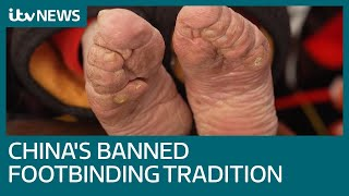 Download Banned practice of foot binding blighting China's oldest women | ITV News Video
