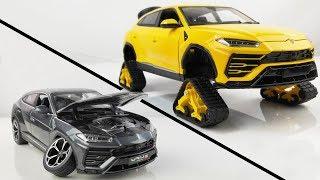 Download Restoration/Customization Lamborghini Urus Into a Tracked Sport Car - Model Car Customization Video