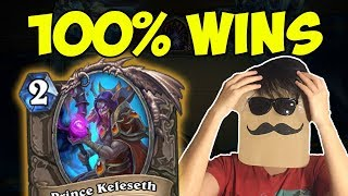 Download This deck is OVERPOWERED! 100% Win Rate to LEGEND! | Tempo Rogue with Prince Keleseth | Hearthstone Video