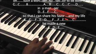 Download Sam's Gospel Music Course ″ The Night that Christ was Born″ in C for Advanced Keyboard/Piano Video