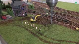 Download Modellbahn Spur N / 1:160 - Teil 9 - Stellwerk und Baustelle Gestalten - Modelleisenbahn Video