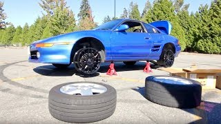 Download MR2 gets new wheels! Test fit. Video