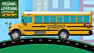 Download School Buses Teaching Colors - Learning Colours Video for Kids Video