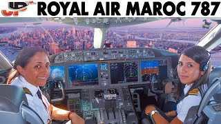 Download ROYAL AIR MAROC Ladies Piloting BOEING 787 to New York City Video