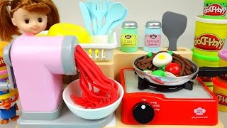 Download Play Doh cooking Spaghetti Kitchen toys & Baby doll - ToyPudding Video