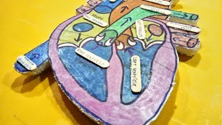 Download How to make a human heart model at home Video