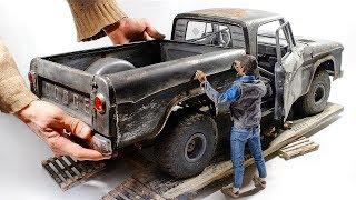 Download 1961 Dodge D100 / 3D print / Wood / Foil / Styrene / Full build 1/6 Video