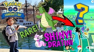 Download OUR FIRST POKEMON GO VIDEO!! SHINY DRATINI HUNTING IN THE PARK!! NEW Community Day Event! CAUGHT IT! Video