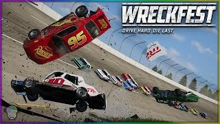 Download Lightning McQueen at Talladega! | Wreckfest | NASCAR Legends Mod Video