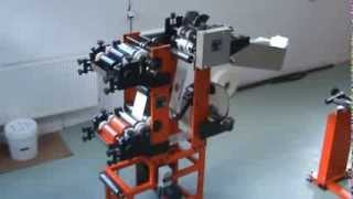 Download Machine for flexo printing and cutting the labels to the bottom of the bags Video