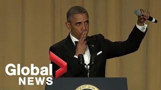 Download ″Obama out:″ President Barack Obama's hilarious final White House correspondents' dinner speech Video