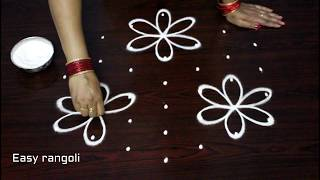 Download simple rangoli designs with 7x4 dots || beginners kolam designs || muggulu designs with dots Video