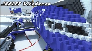 Download 360° Video! Giant 737 Cabin Tour! | Minecraft Video