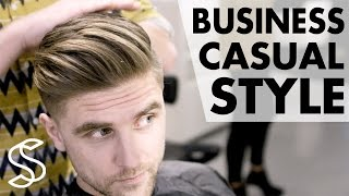 Download Professional men's hairstyling ★ Business casual ★ Short sides 4k hairstyle Slikhaar TV hairstyles Video