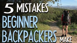 Download 5 Mistakes Beginner Backpackers Make Video