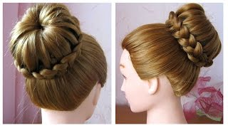 Download Chignon tressé facile ♡ Tuto coiffure simple et rapide cheveux long/mi long Video