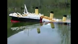 Download Titanic model sinking Video