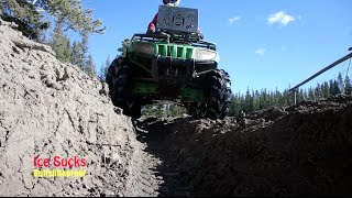 Download These ATV Trails are like a Bobsled Track Video