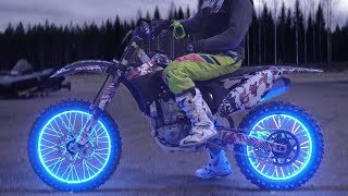 Download LED LIGHT WHEELS to Motorcycle Video