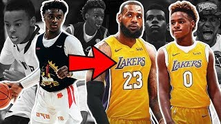 Download Bronny James Jr IS ALREADY A GOAT Like LEBRON!! They Could Team Up in the NBA #TBT Video