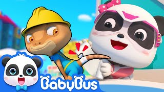 Download Emergency! Rope is almost Falling down | Super Panda Rescue Team Comlilation | BabyBus Cartoon Video
