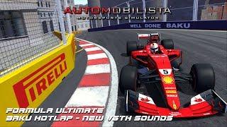 Download Automobilista (AMS)   Formula Ultimate Hotlap @ Baku + Sounds + Setup Video
