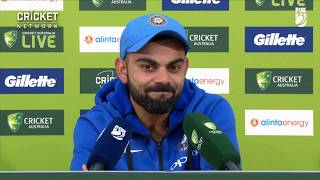 Download Kohli praises teammates after historic win Video