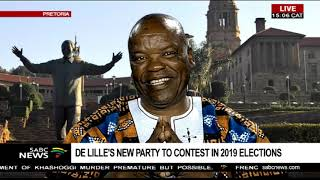 Download De Lille forms new political party, to contest in 2019 elections: Lesiba Tefo Video