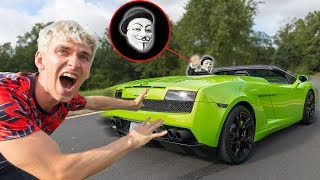 Download CAUGHT GAME MASTER STEALING THE LAMBORGHINI SHARERGHINI with TOP SECRET SPY GADGETS!! Video