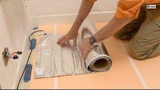 Download Installer un sol chauffant dans la salle de bain-Tuto brico de Robert pour la pose de sol chauffant Video