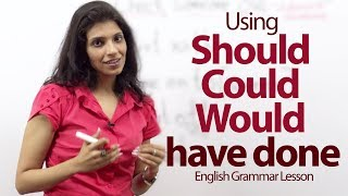 Download Using Should, Could and Would have done correctly - English Grammar lesson Video