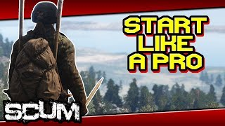 Download SCUM - ULTIMATE STARTING GUIDE! Triple Spear, 4x4 Backpack, Camo in few minutes Video