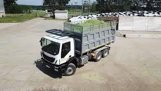 Download IVECO TRAKKER 450   Transport triticale silage   Odvoz žita Video