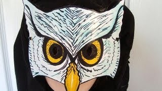 Download HOW TO MAKE AN OWL MASK, halloween, masquerade, carnival, mardi gras, dress-up, paper crafts Video