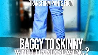 Download How to Trasform Your Pants from Baggy to Skinny with Hand Sewing | DIY with Zymon B. Video