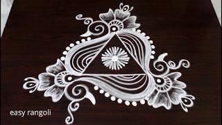 Download beautiful & creative arts * peacock rangoli kolam without dots * latest easy & simple muggulu Video