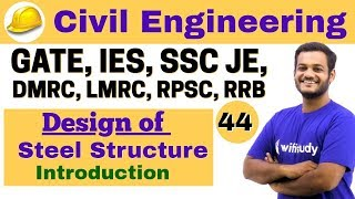 Download 3:00 PM - Civil by Nikhil Sir | Day #44 | Design of Steel Structure Introduction Video