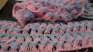 Download Como tejer una bufanda de dos colores con marimur 573 Video