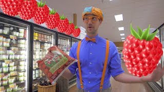 Download 1 Hour of Blippi Educational Videos for Toddlers | Learn Fruit for Kids and More! Video