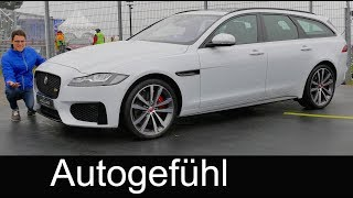 Download Jaguar XF Sportbrake REVIEW Exterior/Interior estate Kombi new generation 2018 - Autogefühl Video